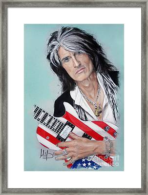 Joe Perry Framed Print by Melanie D