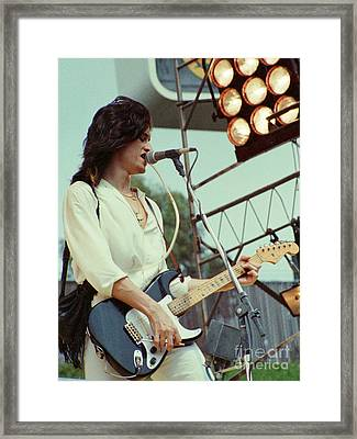 Joe Perry Of Aerosmith At 1979 Monsters Of Rock In Oakland Ca Framed Print