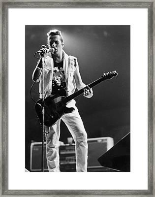 Joe Strummer At Clash Final Concert Framed Print