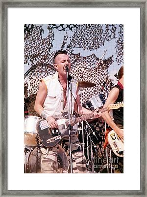 Joe Strummer Framed Print by David Plastik