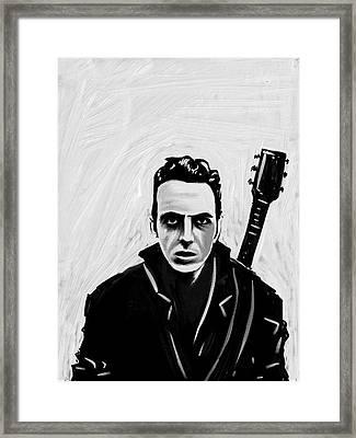 Joe Strummer Framed Print by Jeff DOttavio