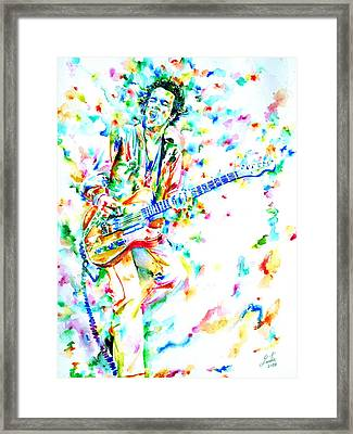 Joe Strummer Playing Live Framed Print
