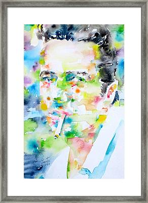 Joe Strummer - Watercolor Portrait Framed Print