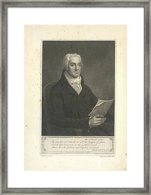 Joel Barlow Framed Print by British Library