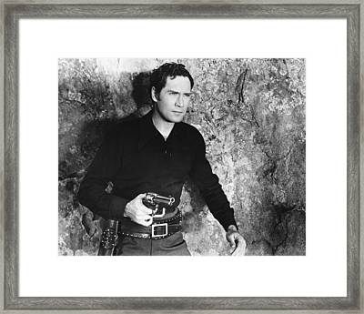 Joel Mccrea Framed Print by Silver Screen