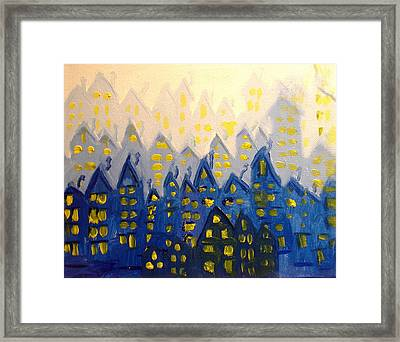 Joes Blue City Framed Print