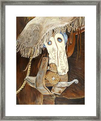 Joe's Boot Framed Print