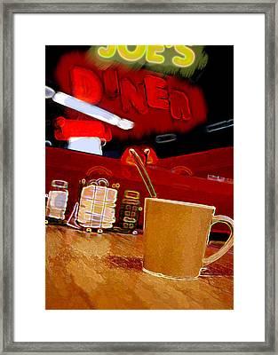Joe's Diner's Joe Framed Print