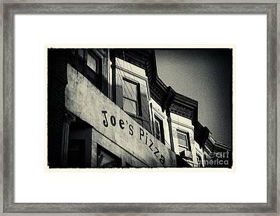 Joe's Pizza Park Slope New York City Framed Print by Sabine Jacobs