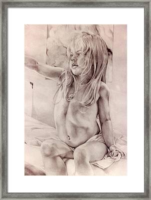 Joey Framed Print by Julie Orsini Shakher
