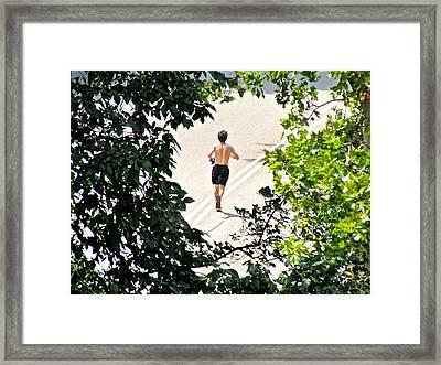Jog Framed Print