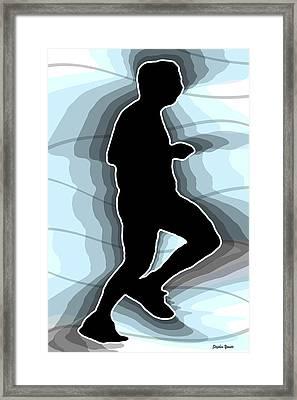 Jog Framed Print by Stephen Younts