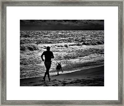 Joggin Wit Dad Framed Print