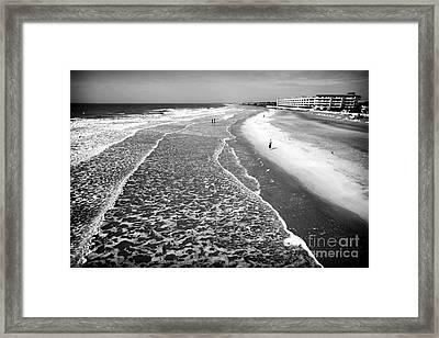 Jogging At Folly Beach Framed Print by John Rizzuto