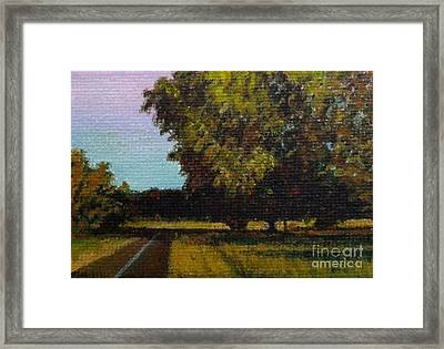 Jogging Trail At Two Rivers Park Framed Print by Amber Woodrum