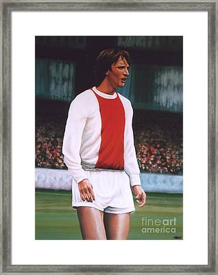 Johan Cruijff  Framed Print by Paul Meijering