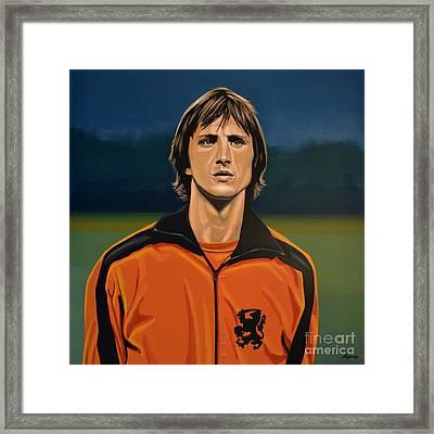 Johan Cruyff Oranje Framed Print by Paul Meijering