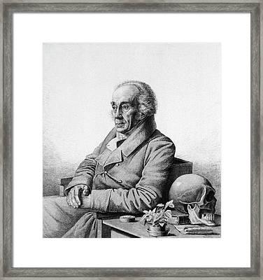 Johann Blumenbach Framed Print by National Library Of Medicine