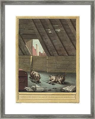 Johann Christoph Teucher After Jean-baptiste Oudry German Framed Print by Quint Lox