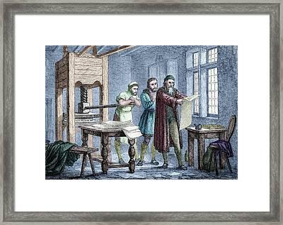 Johann Gutenberg Framed Print by Michael Marten
