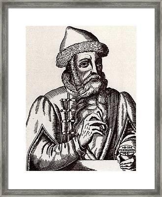 Johann Gutenberg Framed Print by Universal History Archive/uig