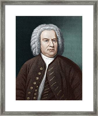 Johann Sebastian Bach (1685-1750) Framed Print by Science Photo Library