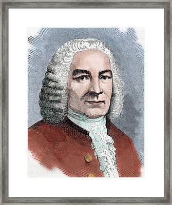Johann Sebastian Bach (eisenach Framed Print by Prisma Archivo