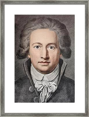 Johann Von Goethe Framed Print by Paul D Stewart