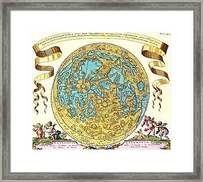 Johannes Hevelius Moon Map 1647 Framed Print