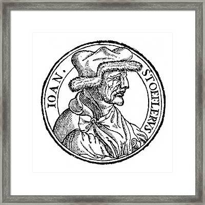 Johannes Stoeffler Framed Print