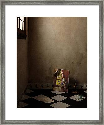 Framed Print featuring the photograph Johannes Vermeer Left by Levin Rodriguez