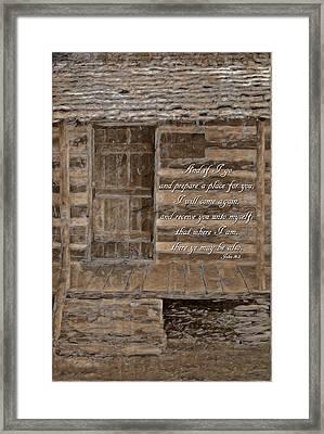 John 14 3 Framed Print by Michelle Greene Wheeler