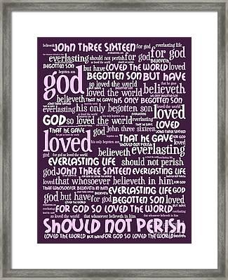 John 3-16 For God So Loved The World 20130622bwma Vertical Framed Print by Wingsdomain Art and Photography