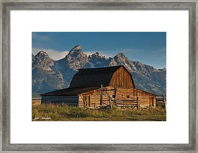 Framed Print featuring the photograph John And Bartha Moulton Barn by Jeff Goulden
