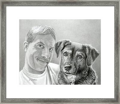 John And Howie Framed Print by Sarah Batalka