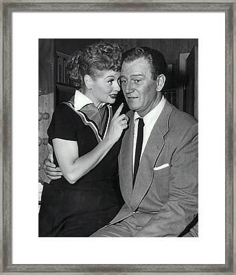 John And Lucille Framed Print by Daniel Hagerman