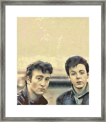 John And Paul When It All Started Framed Print by Paulette B Wright