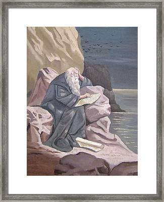 John At Patmos Framed Print by Tanya Provines