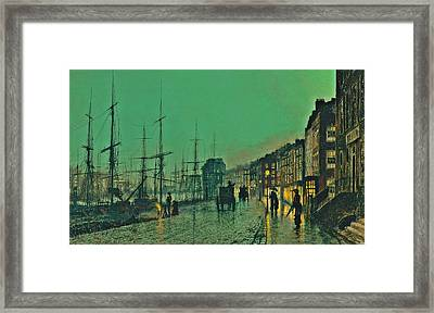 John Atkinson Grimshaw Shipping On The Clyde 1881 Framed Print by Movie Poster Prints