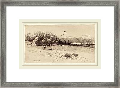 John Austin Sands Monks, Evening After The Storm Framed Print by Litz Collection