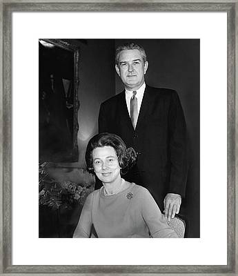 John B Connally And Idanell Connally Framed Print