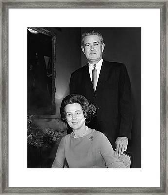 John B Connally And Idanell Connally Framed Print by Horst P. Horst