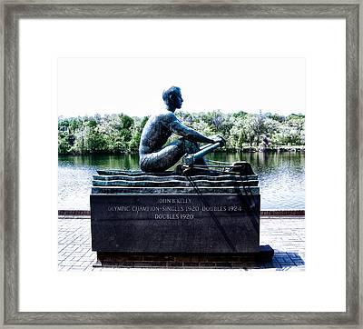 John B Kelly Statue Philadelphia Framed Print by Bill Cannon