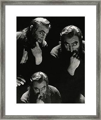 John Barrymore In Character Role Of Svengali Framed Print by Cecil Beaton