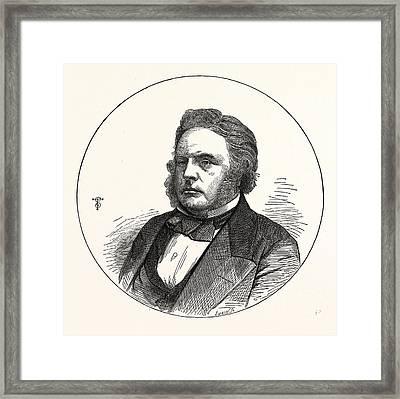 John Bright, Esq., M.p. For Birmingham. 16 November 1811 27 Framed Print