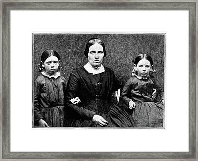 John Brown Family, C1851 Framed Print by Granger
