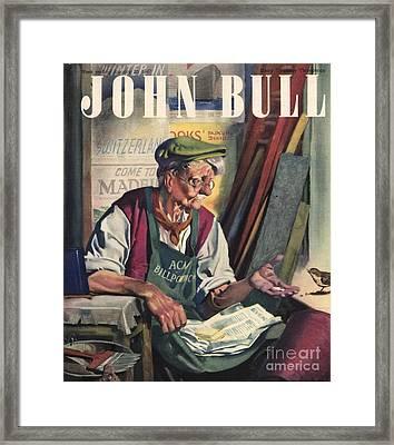 John Bull 1947 1940s Uk Birds Feeding Framed Print by The Advertising Archives