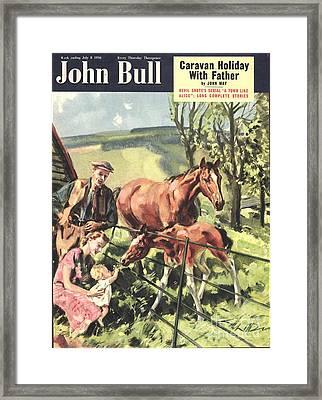 John Bull 1950 1950s Uk Horses Pets Framed Print by The Advertising Archives