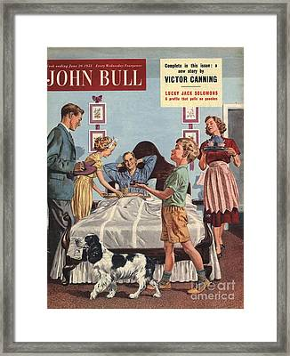 John Bull 1950s Uk Father�s Day Framed Print by The Advertising Archives