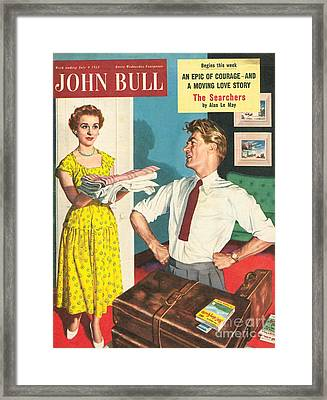 John Bull 1950s Uk Holidays Packing Framed Print by The Advertising Archives